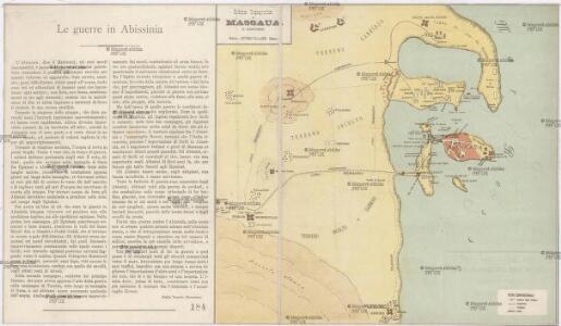 Schizzo topografico di Massaua e dintorni