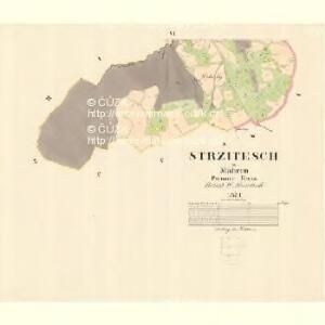 Strzitesch - m2923-1-005 - Kaiserpflichtexemplar der Landkarten des stabilen Katasters