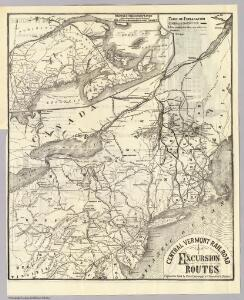 Central Vt. RR. excursion routes.