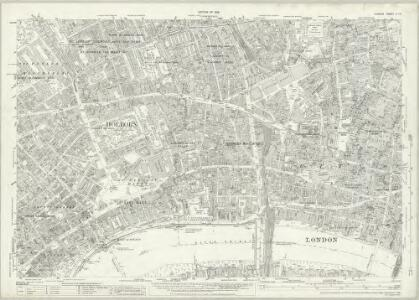London (1915- Numbered sheets) V.10 (includes: City Of Westminster; Finsbury; Holborn; Inner Temple; Lambeth St Mary; London; Southwark) - 25 Inch Map