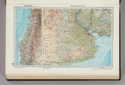232.  Chile, Central; Argentina, Central (Pampa).  The World Atlas.