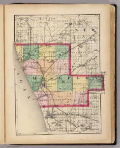 (Map of Muskegon County, Michigan)
