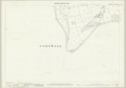 Devon XCVI.15 (includes: Dunterton; Lezant; Stoke Climsland) - 25 Inch Map