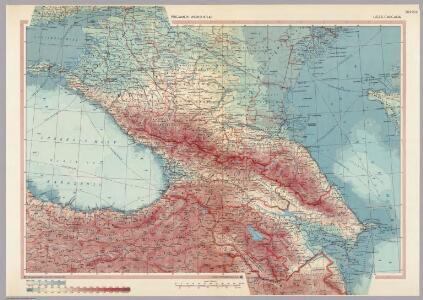 U.S.S.R. - Caucasia.  Pergamon World Atlas.