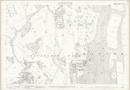 Derbyshire XXIV.5 (includes: Baslow and Bubnell; Chatsworth; Edensor) - 25 Inch Map