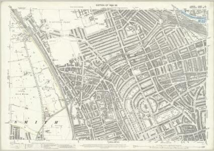 London (Edition of 1894-96) LIX (includes: Hammersmith; Kensington) - 25 Inch Map