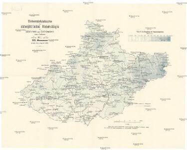 Uebersichtskarte des atmosphärischen Niederschlages in Mähren und Schlesien im Jahre 1899