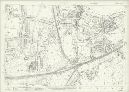 Surrey XII.7 (includes: Thames Ditton) - 25 Inch Map