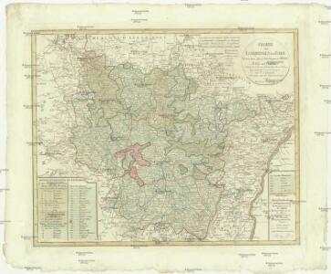 Charte von Lothringen und Barr nebst den drey Bisthümern Metz, Toul und Verdun