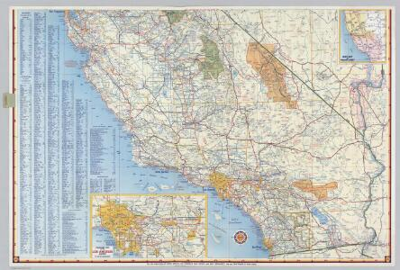 Shell Highway Map of California (southern portion).