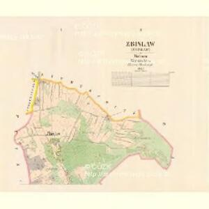 Zbislaw - c9201-1-002 - Kaiserpflichtexemplar der Landkarten des stabilen Katasters