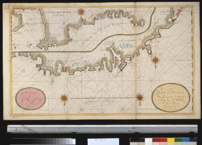 Afteekening van een gedeelte van de kust van Westindia van Cartagena St. Martha en voorts van Sty. Martha tot de Golf van Veneçuela