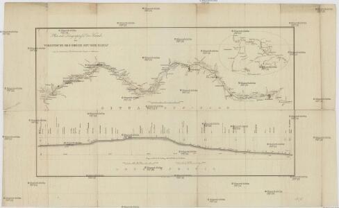 Plan und Laengenprofil des Kanals zur Verbindung des Rheins mit der Donau