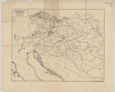 Routenkarte der eisenbahnen von Österreich, Ungarn und Bosnien-Herzegowina