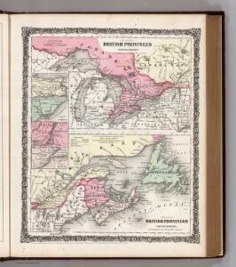 British Provinces in Canada.