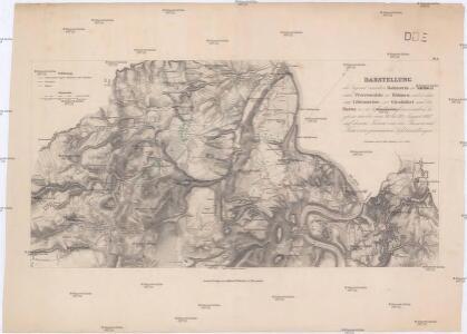 Darstellung der Gegend zwischen Hohnstein in Sachsen und Peterswalde in Böhmen
