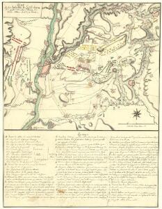 Plan De La Bataillie de Lafelt