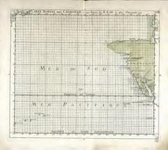 Carte marine entre Californie et une partie de l'Asie la plus orientale
