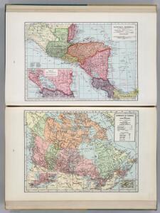 Central America.  Dominion of Canada and Newfoundland.