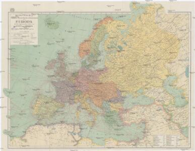 Mittelbach's neueste Reise- Hand- und Kontorkarte von Europa