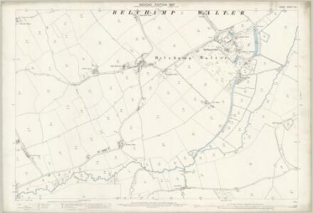 Essex (1st Ed/Rev 1862-96) XII.1 (includes: Belchamp Walter; Bulmer; Gestingthorpe) - 25 Inch Map