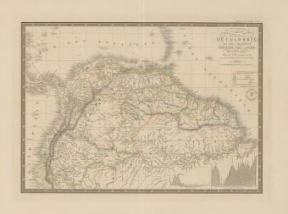 Carte des Républiques de la Nle. Grenade, de Venezuela et de l'Équateur