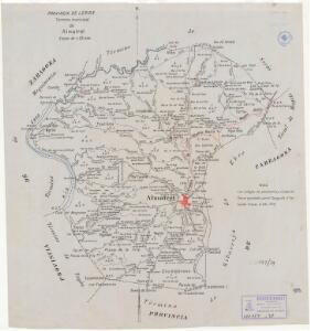 Mapa planimètric d'Almatret