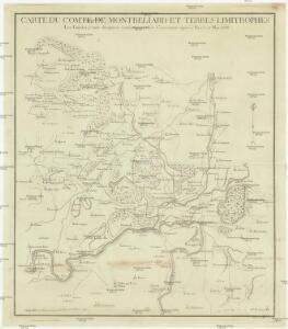 Carte du comté de Montbeliard et terres limitrophes