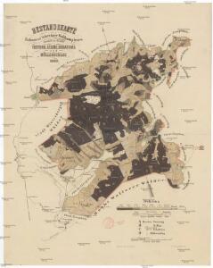 Bestandskarte des Kubani- und Schreiner-Waldcomplexes innerhalb der Reviere Freyung, Kellne, Schattawa und Müllerschlag