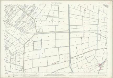 Somerset LII.6 (includes: Glastonbury; Sharpham; Street) - 25 Inch Map