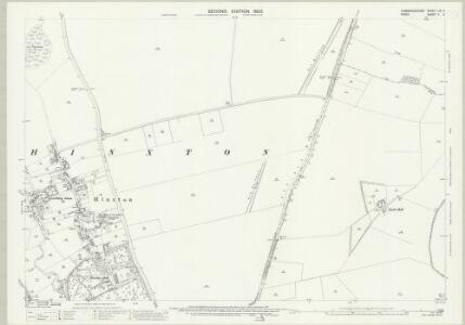 Cambridgeshire LIX.4 (includes: Great Abington; Great Chesterford; Hinxton; Ickleton) - 25 Inch Map