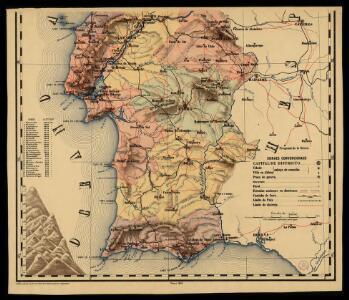Carta de Portugal, aprovada para uso das escolas / Direccâo Geral dos Trabalhos Geodesicos e Topographicos