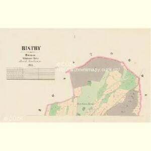 Bistry - c0713-1-001 - Kaiserpflichtexemplar der Landkarten des stabilen Katasters