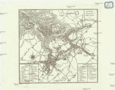 Pianta topografica della citta di Bergamo