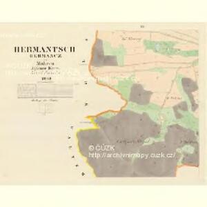 Hermantsch (Hermancz) - m0693-1-002 - Kaiserpflichtexemplar der Landkarten des stabilen Katasters