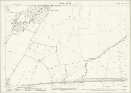 Berkshire XIV.3 (includes: Ardington; East Hanney; Grove; Lockinge; Steventon; West Hendred) - 25 Inch Map