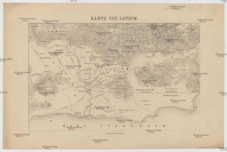 Karte von Latium