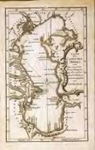 Carte des Caspischen Meeres