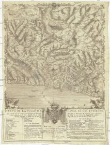 Carte de la ville de Genes, et des environs