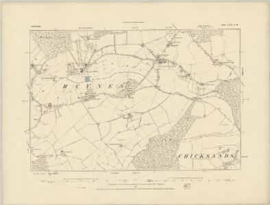 Bedfordshire XXI.NW - OS Six-Inch Map