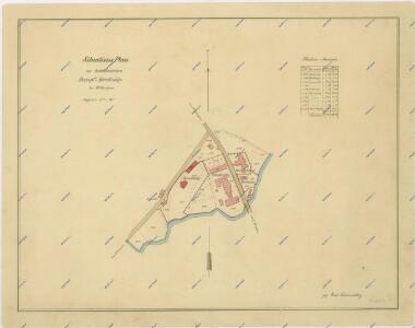 Situační plán parního mlýna a pily v Třeboni 1