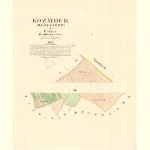 Kozaydek (Kozogidek) - m1323-1-001 - Kaiserpflichtexemplar der Landkarten des stabilen Katasters