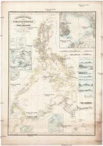 REDUZIRTE-KARTE VON DEN PHILIPPINEN und den SULU INSELN