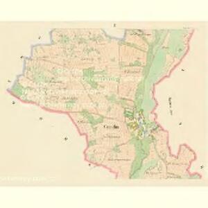 Czmelin (Čmeljny) - c1042-1-002 - Kaiserpflichtexemplar der Landkarten des stabilen Katasters