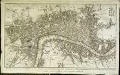 Plan nouveau et correct des villes et fauxbourgs de Londres et Westminster et du bourg de Southwark