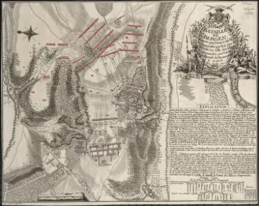 Bataille De Bergen Gagnée par l'Armée du Mem. Commandée par M. le Duc de Broglie, Sur celle des Allies Commandée par M. le Pr. Ferdinand de Brounswick le 13. Avril. 1759