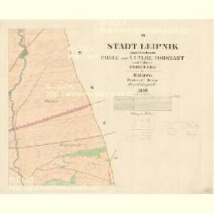 Leipnik - m1568-1-005 - Kaiserpflichtexemplar der Landkarten des stabilen Katasters