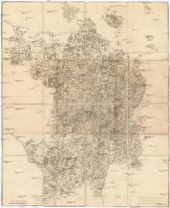 Carte itinéraire du duché de Bourgogne