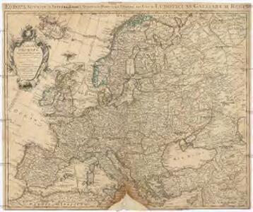 Carte d'Europe dressée pour l'Usage du Roy sur les Itineraires anciens et modernes et sur les Routiers de mer assujetis aux observations astronomiques