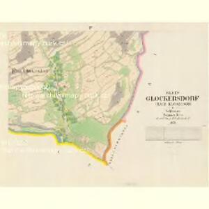 Klein Glockersdorf (Male Klokočowo) - m1204-1-002 - Kaiserpflichtexemplar der Landkarten des stabilen Katasters